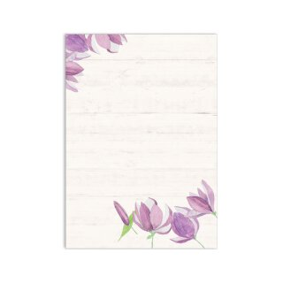 Briefpapier Set Blume Frühling I DIN A4 I 50 Blatt