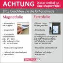 Magnetfolie 20 x 20 cm I selbstklebend, roh-braun