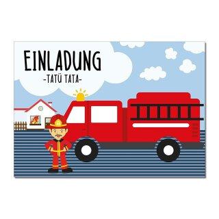 15 Feuerwehr Einladungskarten I DIN A6