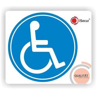 2er Set Rollstuhl-Aufkleber I Ø 10 cm