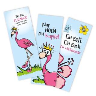 12er Set Flamingo-Lesezeichen
