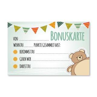 5 Belohnungskarten mit Bären-Motiv I 85 x 55 mm