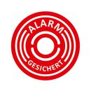 5er Aufkleber-Set Alarm-gesichert I Ø 4 cm