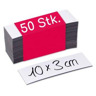 50 beschreibbare Magnet-Etiketten MAGSTICK® I Größe 10 x 3 cm