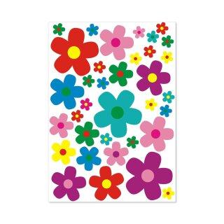 Aufkleber-Set Blumen Blümchen I mehrfarbig