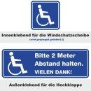Rollstuhl Aufkleber-Set