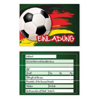 15 Fußball Einladungskarten I DIN A6