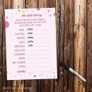 15 Spiel-Karten zur Baby-Party I DIN A6