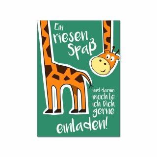 15 Giraffen Einladungskarten I DIN A6