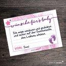 40 Baby Wunsch-Karten I DIN A7