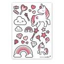 25 Einhorn-Sticker I rosa