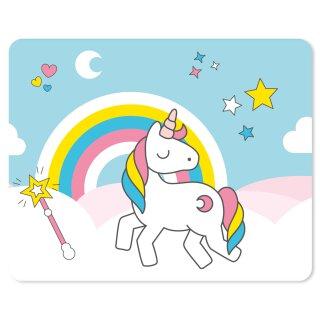 Einhorn Mauspad Keep Calm and be a Unicorn