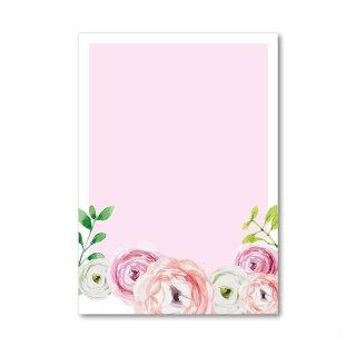 Briefpapier Set Blume I DIN A4 I 50 Blatt