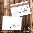 15 Postkarten Save the Date Herz I DIN A6