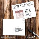 15 Postkarten Save the Date Mr. & Mrs. I DIN A6