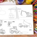 DIN A3 Mal-Vorlagen für Kinder I Set mit drei verschiedenen Motiven