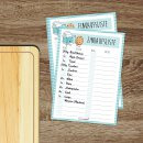 2 Notizblöcke Einkaufsliste I DIN A6