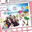 20 Flamingo-Sticker