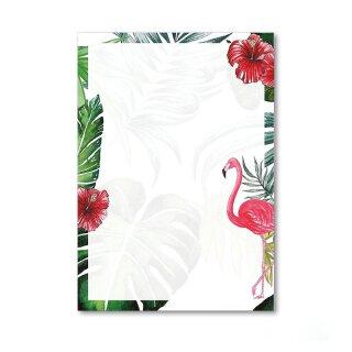 Briefpapier Set Flamingo I DIN A4 I 50 Blatt
