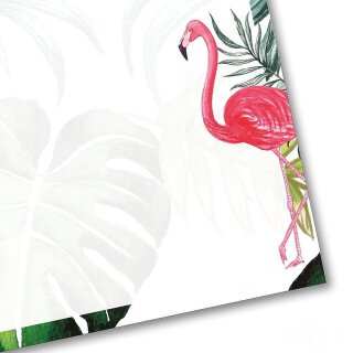 Briefpapier Set Flamingo I DIN A4 I 50 Blatt