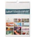 Geburtstagswandkalender mit Sprüchen und Motiven