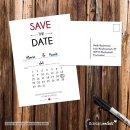 15 Postkarten Save the Date Kalendarium I DIN A6