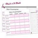 Notiz-Block Mein Essensplaner I DIN A4 I rosa