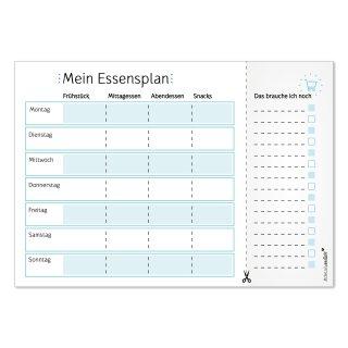 Notiz-Block Mein Essensplaner I DIN A4 I blau