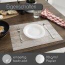 100 Papier-Tischsets in heller Holz-Optik I DIN A3