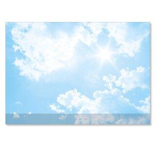 Schreibtischunterlage mit Wolken-Motiv und Kantenschutz I DIN A2