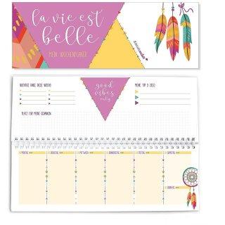 Jahresunabhängiger Tisch-Kalender I Boho Style