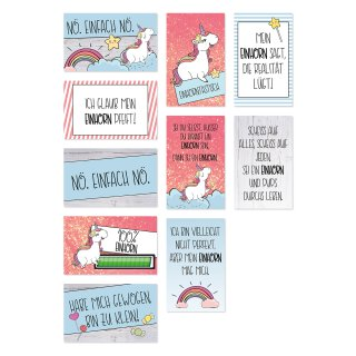10 Einhorn-Magnete lustig und süß