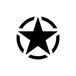 1 Sticker Army Stern schwarz I kfz_014 I Ø 10 cm