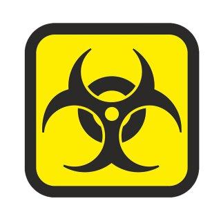 1 Aufkleber Biohazard I kfz_213 I 10 x 10 cm