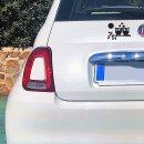 """Aufkleber """"Eulen auf Ast, links, schwarz"""", 14x10cm, Art. Nr. kfz_575 links , außenklebend für Auto, LKW, Motorrad, Moped, Mofa, Roller, Fahrzeuge, UV- und witterungsbeständig, für Waschanlagen geeignet"""