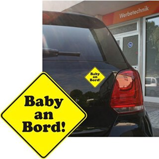 Auto-Aufkleber Baby an Bord I10 x 10 cm