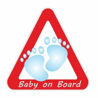 1 Auto-Aufkleber Baby on Board Junge I kfz_025 I 10 x 10 cm