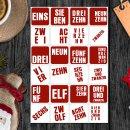 24 Adventskalender-Zahlen-Aufkleber