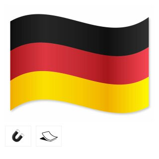 3er Set Deutschland-Flagge