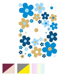 Blumen-Aufkleber-Set Blümchen