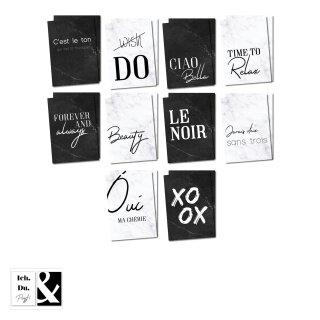 2 x 10 Postkarten mit Sprüchen