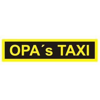 Auto-Aufkleber Opa´s Taxi I 20 x 5 cm