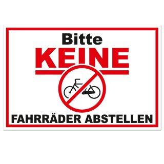 Hinweis-Aufkleber Bitte keine Fahrräder abstellen I 30 x 20 cm