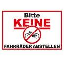 Hinweis-Schild Bitte keine Fahrräder abstellen I 30 x 20 cm