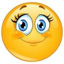 Smiley-Aufkleber Wimpern