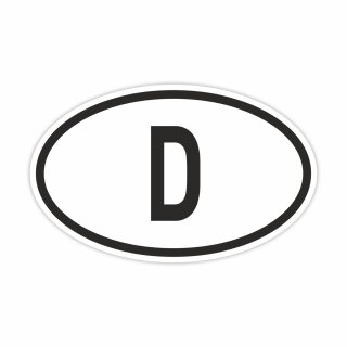 """Aufkleber """"Länderkennzeichen Deutschland"""", iSecur®, 14,5x9cm, Art. Nr. kfz_389, außenklebend für Auto, LKW, Motorrad, Moped, Mofa, Roller, Fahrzeuge, UV- und witterungsbeständig, für Waschanlagen geeignet"""