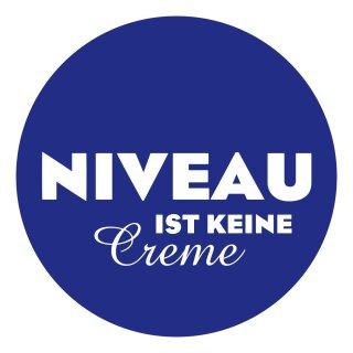 1 Sticker Niveau ist keine Creme I kfz_094 I Ø 10 cm