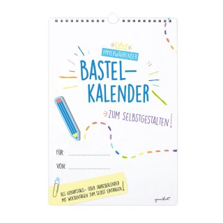 Bastelkalender zum Selbstgestalten