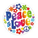 Sticker Peace & Love I Ø 10 cm