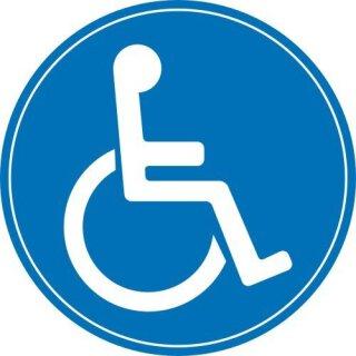 1 Rollstuhl-Aufkleber innenklebend I Ø 10 cm I kfz_398